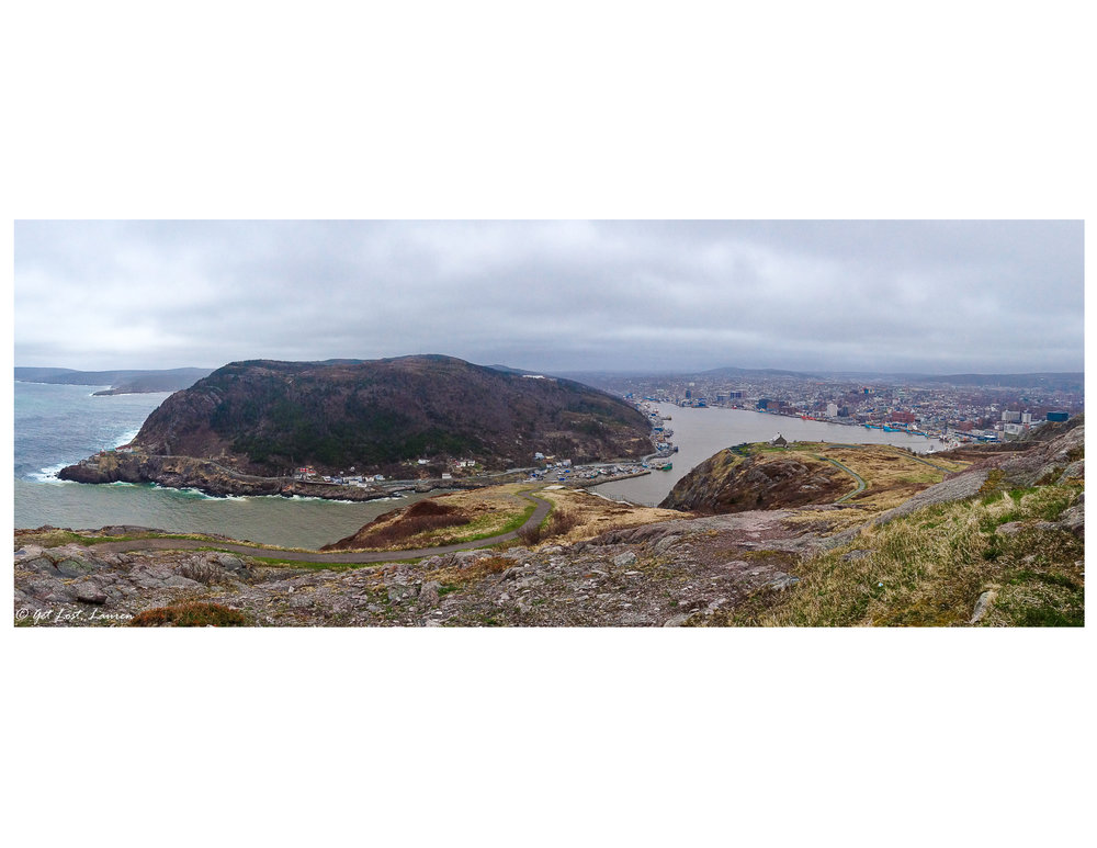 Signal Hill keeping watch over St. John's harbor.