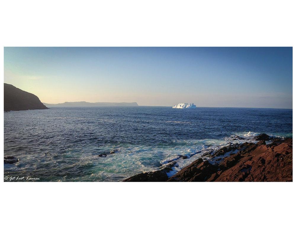Iceberg sighting from Cape Spear near St. John's, Newfoundland, CA.