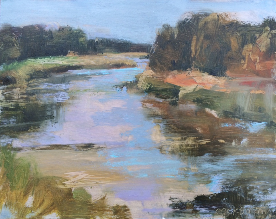 "Grand River, 2016, oil on panel, 8""x10"""