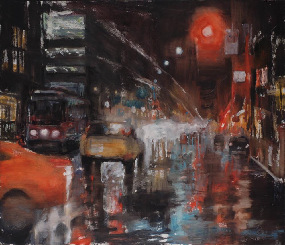 """Queen Street, 2009, oil on panel, 41""""x48"""""""