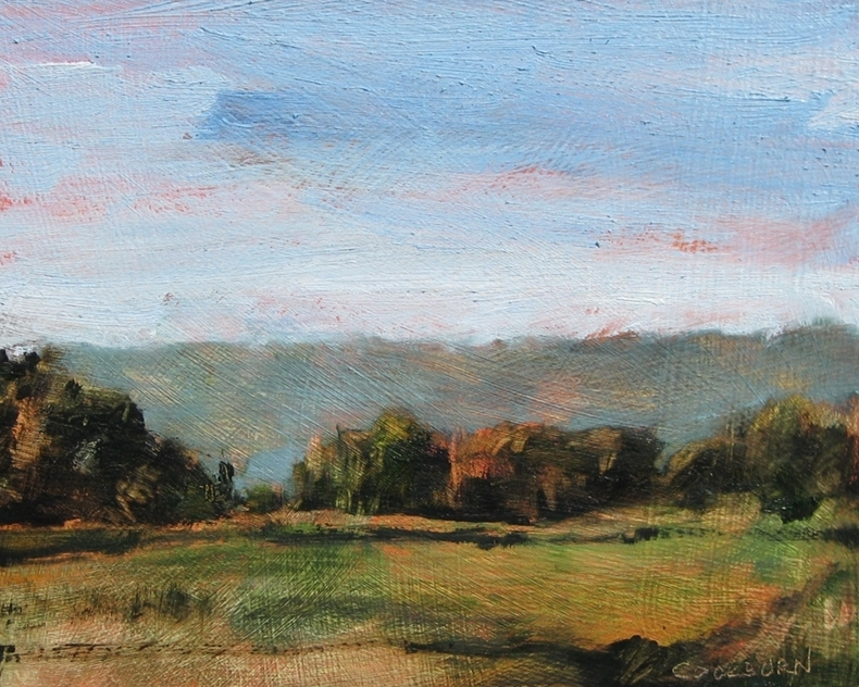 "Under the Escarpment, 2012, oil on panel, 8""x10"""