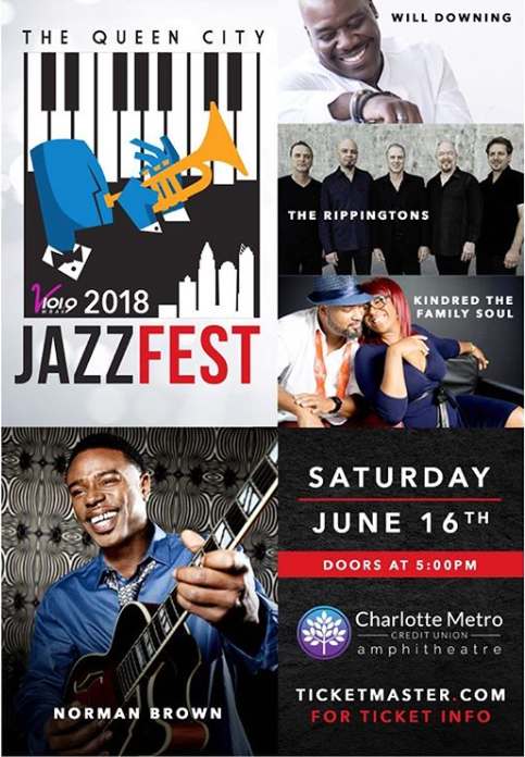 QC Jazz Fest 2018 - Saturday, June 16th marks the 4th annual Queen City Jazz Fest. Charles Whitfield has curated another great event. This year, the Queen City will play host to Mr. Smooth and Mellow - Will Downing, The Rippingtons, power music couple - Kindred the Family Soul and the incredible and eclectic - Normal Brown. From beginning to end, this one day festival has something for everyone.I've had to opportunity to catch Will, but the festival was rained out, so I missed him. This will be a treat for me. Kindred, I've covered them a few times and even went to Philly to catch one of their Kindred Presents shows. This is a couple/group you can never grow tired of. So I'm excited to see Fatin and Aja. And Norman, well I caught him last year at the Richmond Jazz Fest and I instantly became a fan. I don;t know too much about The Rippingtons but I'm eager to find out more about them and their music... that's the beauty of music festivals.