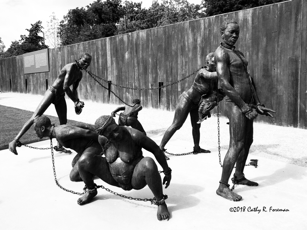 Sculpture by: Kwame Akoto-Bamfo at National Memorial for Peace and Justice | Image by: Cathy R. Foreman