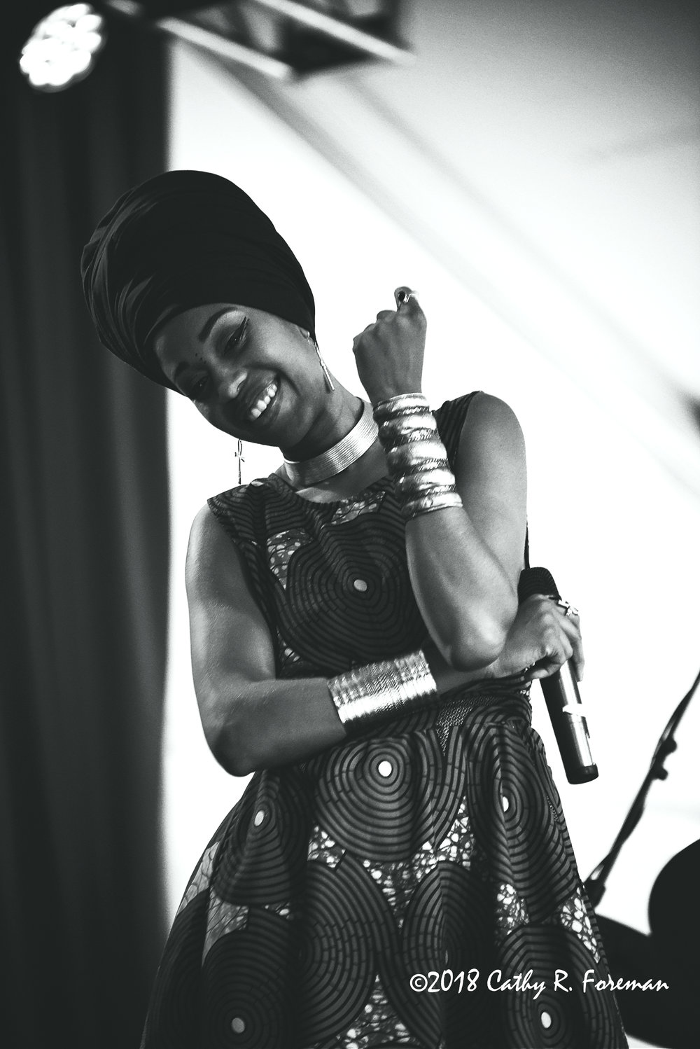 Jazzmeia Horn at the 2018 Richmond Jazz Festival - Image by: Cathy R. Foreman