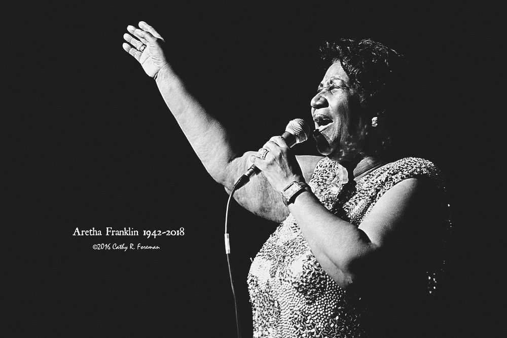 Aretha Franklin at DPAC in 2016, Image by: Cathy R. Foreman