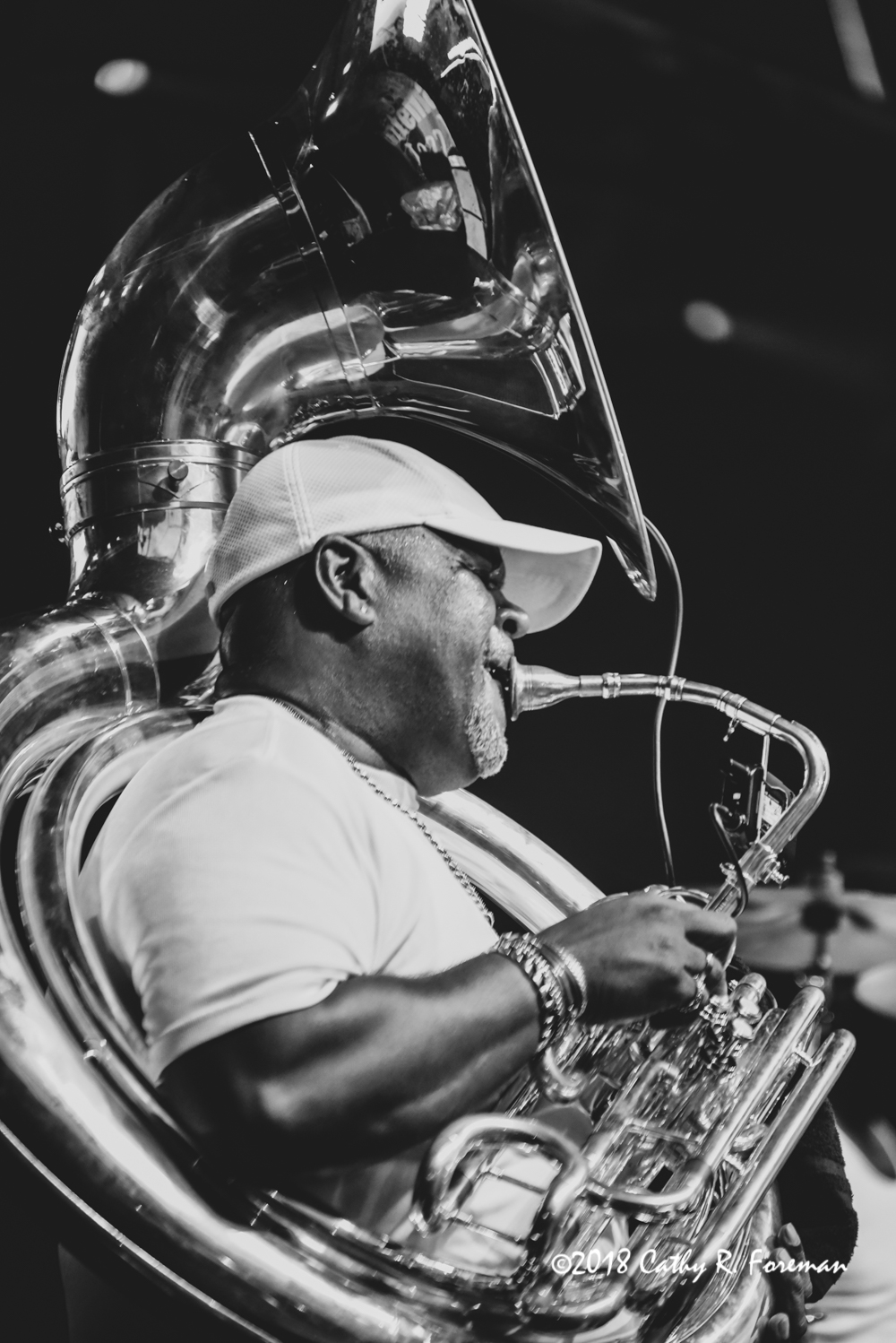 Kirk Joseph of the Dirty Dozen Brass Band on the Tuba | image by: Cathy R. Foreman