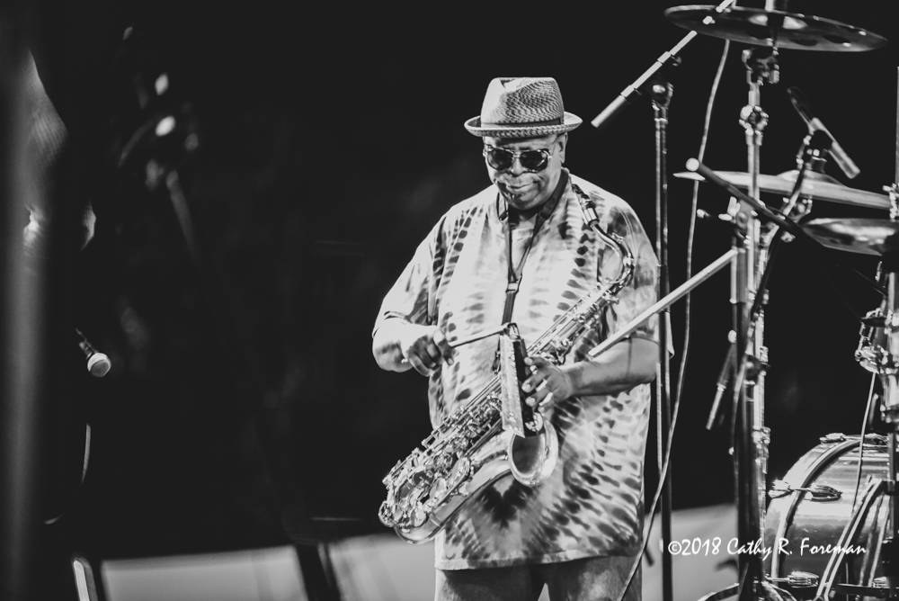 Kevin Harris of the Dirty Dozen Brass Band on the Tenor Sax | image by: Cathy R. Foreman