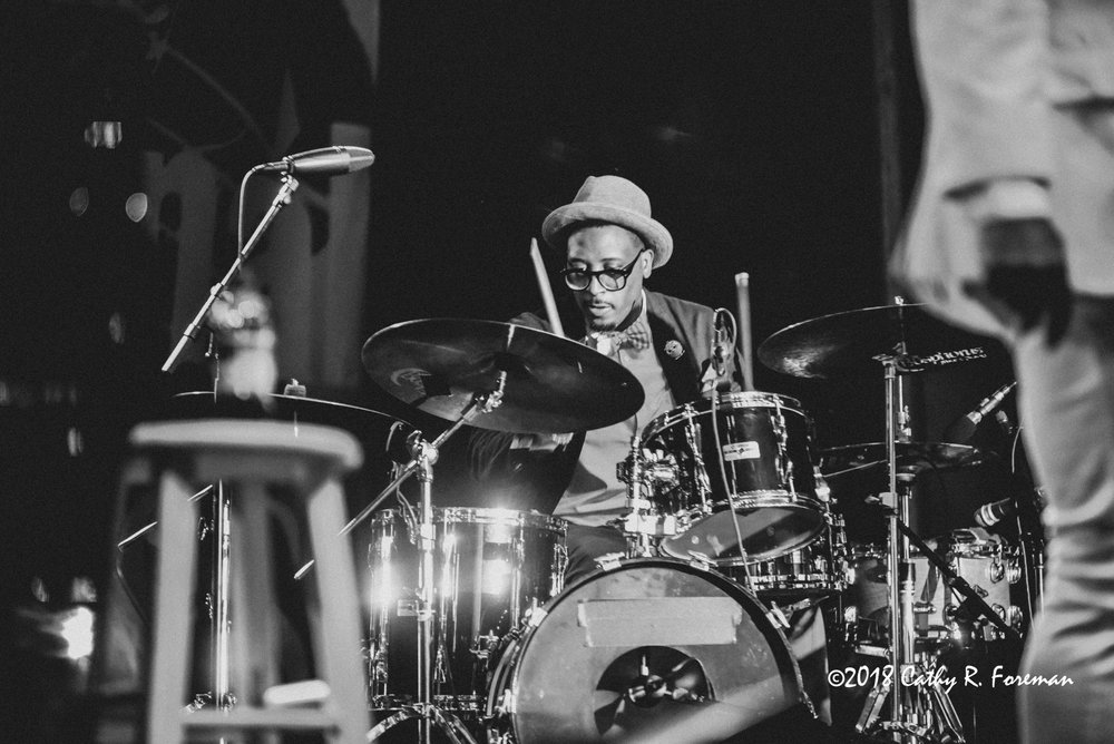 Emanuel Harrold on the Drums | image by: Cathy R. Foreman
