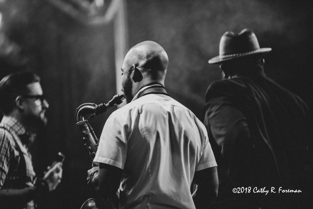 Tivon Pennicott, Saxophonist and Jahmal Nichols, Bassist | image by : Cathy R. Foreman