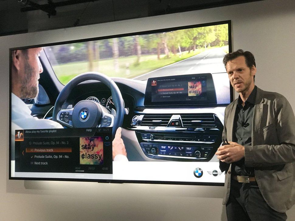BMW's Thom Brenner shows off Alexa integration