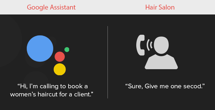 Google Aassistant books a haircut