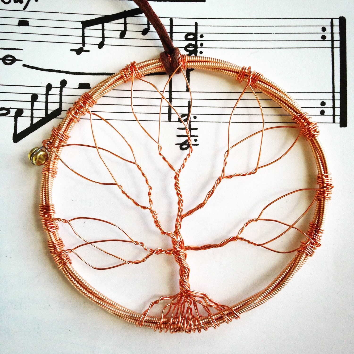 Acoustic Guitar String Celtic Tree Of Life Ornament Encore Jewellery Wiring Diagram