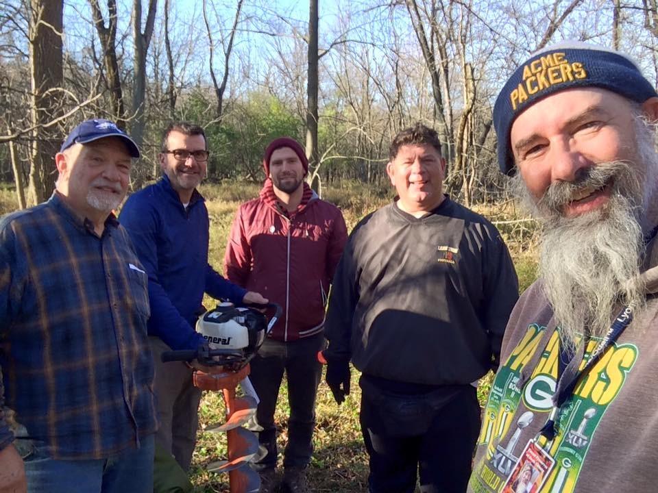 Dennis Marton, Fran Morel, Josh Coles, Luis Munoz and Jeff Skrentny: augur team! (photo by Jeff Skrentny)