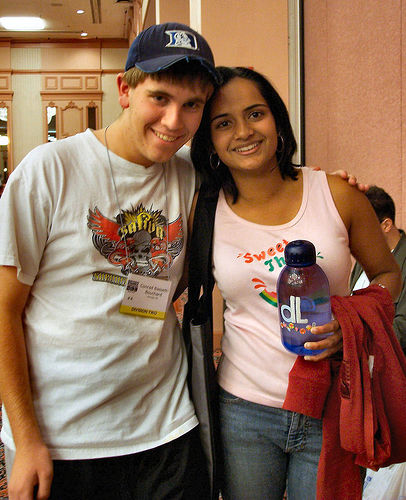 With future travel buddy Dielle at my first Nationals. (Reno, 2005)