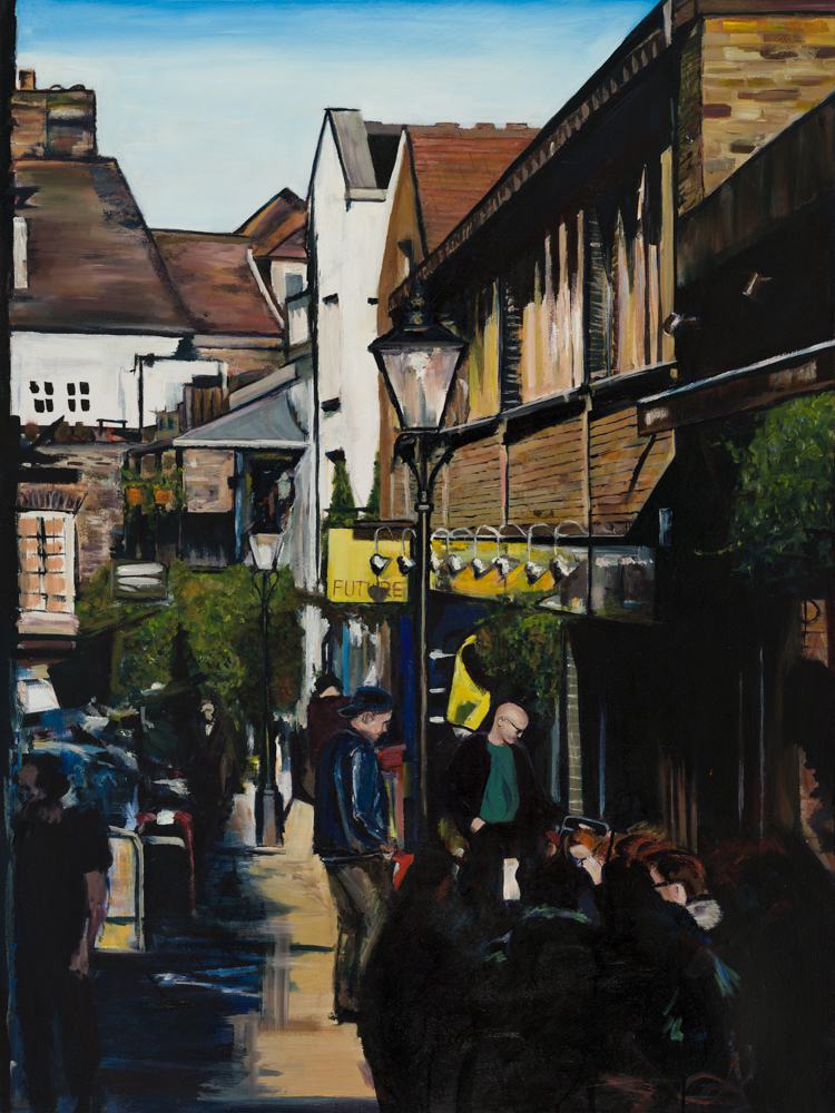 Perrin's Court, 2016 | Indian ink & oil on canvas | 91 x 122 cm | £1,200
