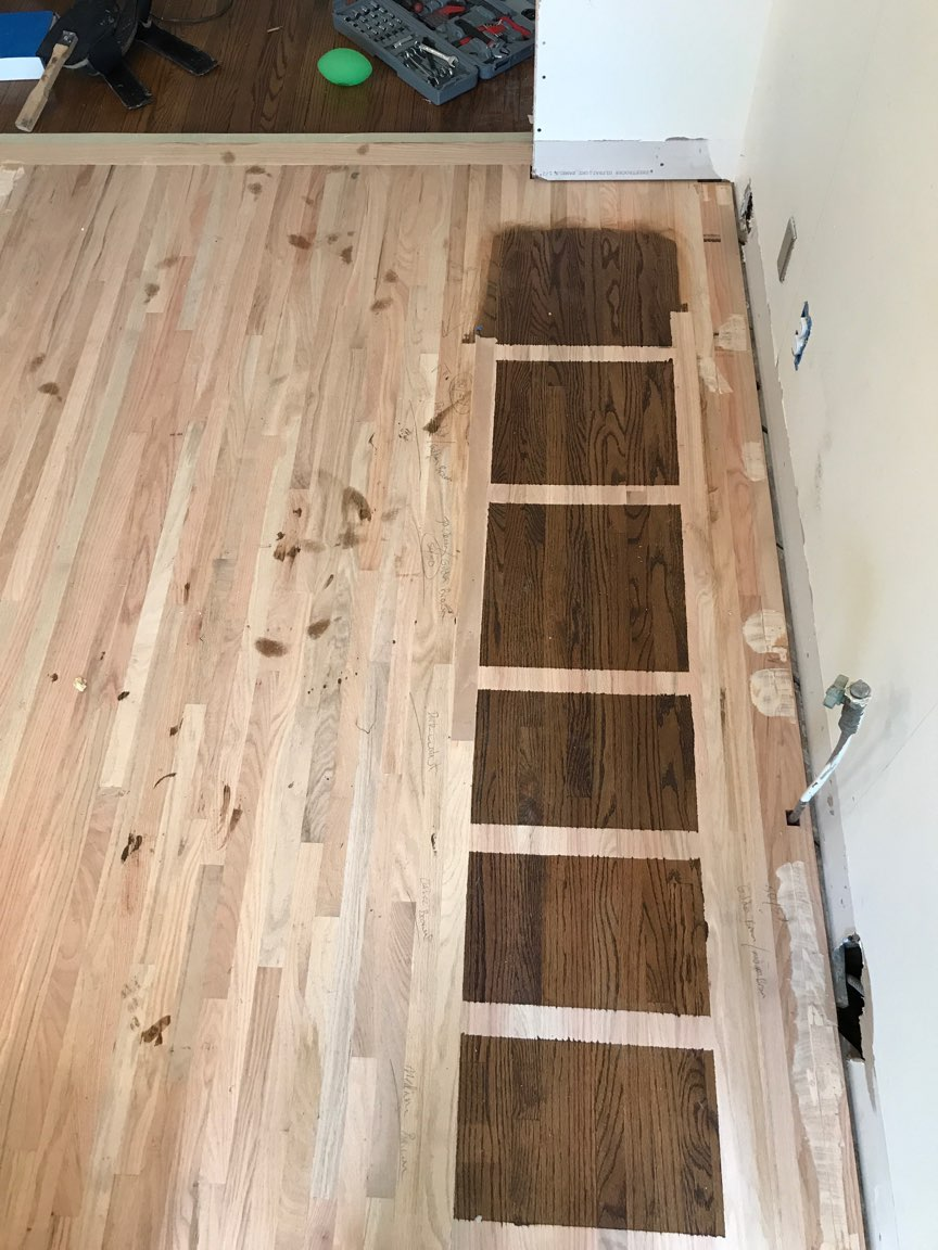 Shout out to our friend, Eric who installed the new floors and matched the existing stain so nicely!