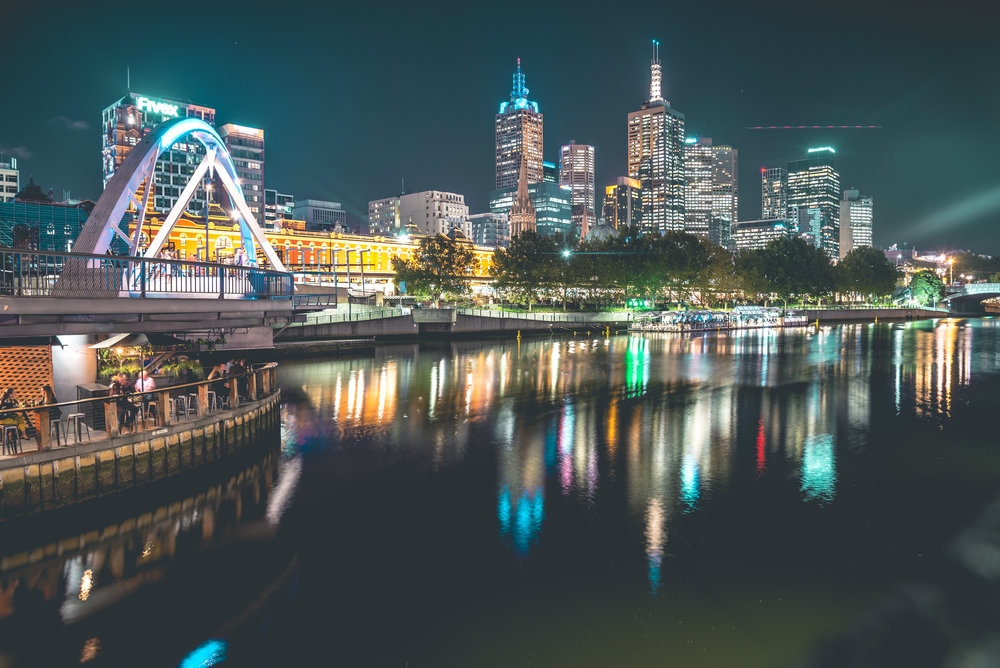 Long exposure photography - Melbourne City.