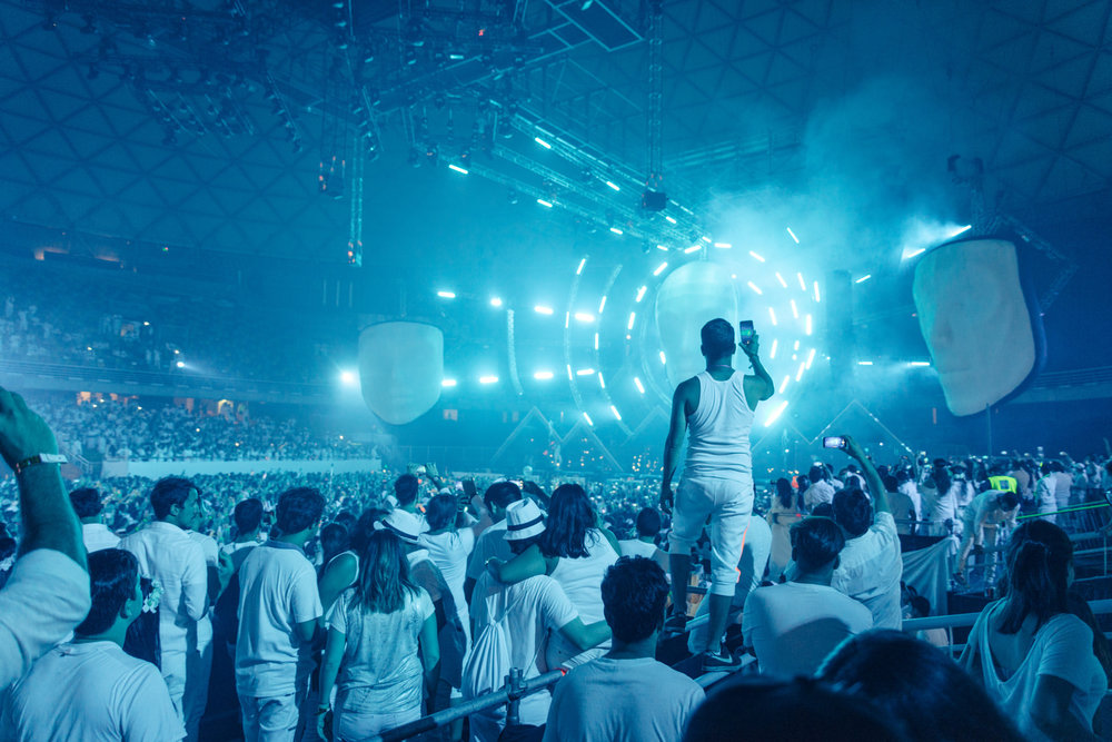 Events photography - Sensation White, Chile.