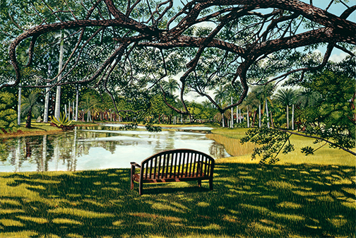 BENCH AT FAIRCHILD