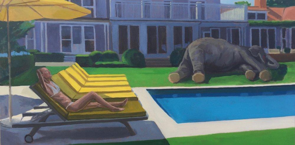 """Prey"" - 48x24 - oil on canvas"