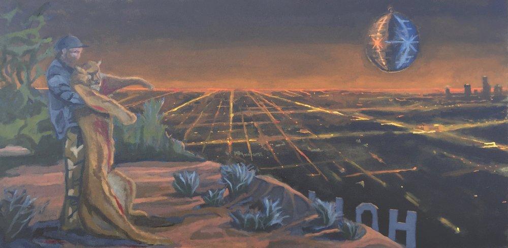 """Predator"" - 48x24 - oil on canvas"