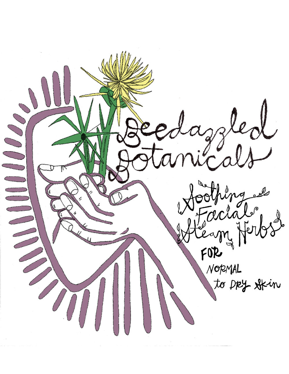 Label for Beedazzled Botanicals skincare products in Benzonia, MI