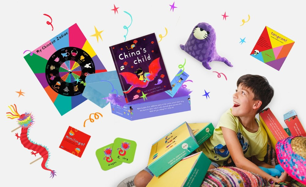 China's story box - A box bursting with toys, games, activities and wonders. An out-of-this-box funtabulous gift for every little and the perfect introduction to China's culture.