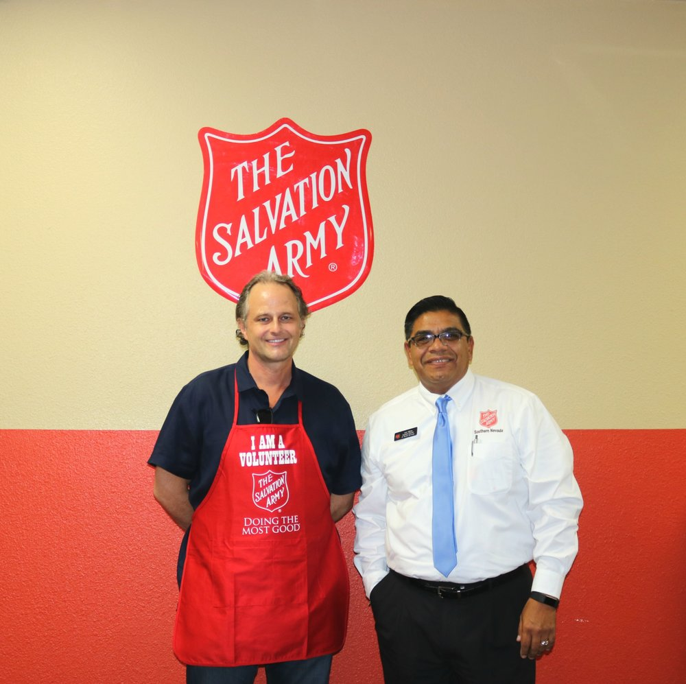Robert Driscoll Clinical Director of The Well Care Group  & Juan Salinas Director of Social Services at the Salvation Army