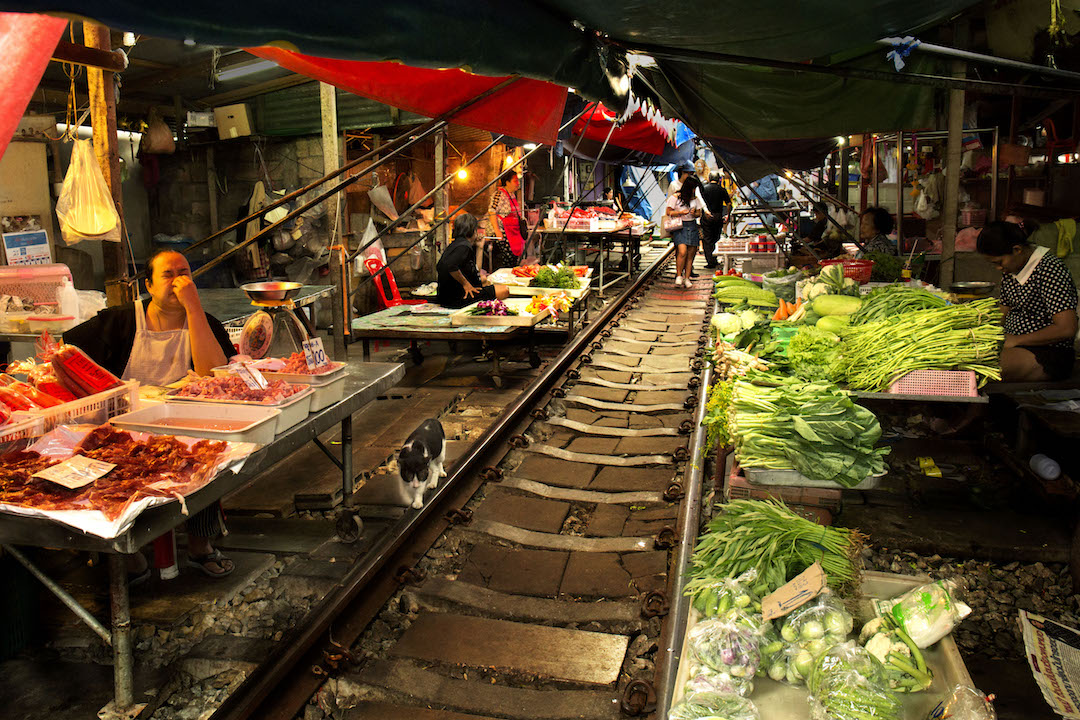 Image result for maeklong railway market