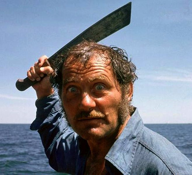 Robert Shaw poses with French Army Indochina Senegalese Machete, also know as a Coupe-Coupe (cut-cut) machete.