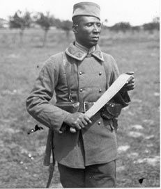 This is a WW1 French Coup Coup Machete issued to the French Colonial Infantry troops