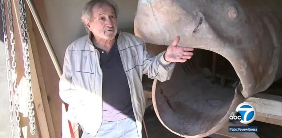 Jaws Production Designer Joe Alves observes the restoration