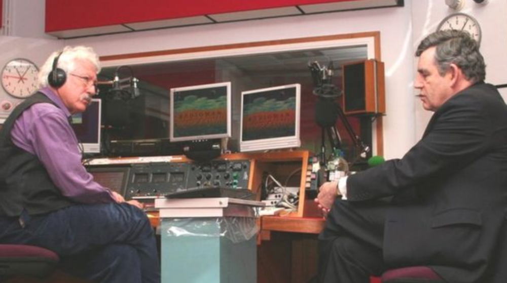 While at BBC Oxford Bill Heine interviewed hundreds of notable people, including Gordon Brown