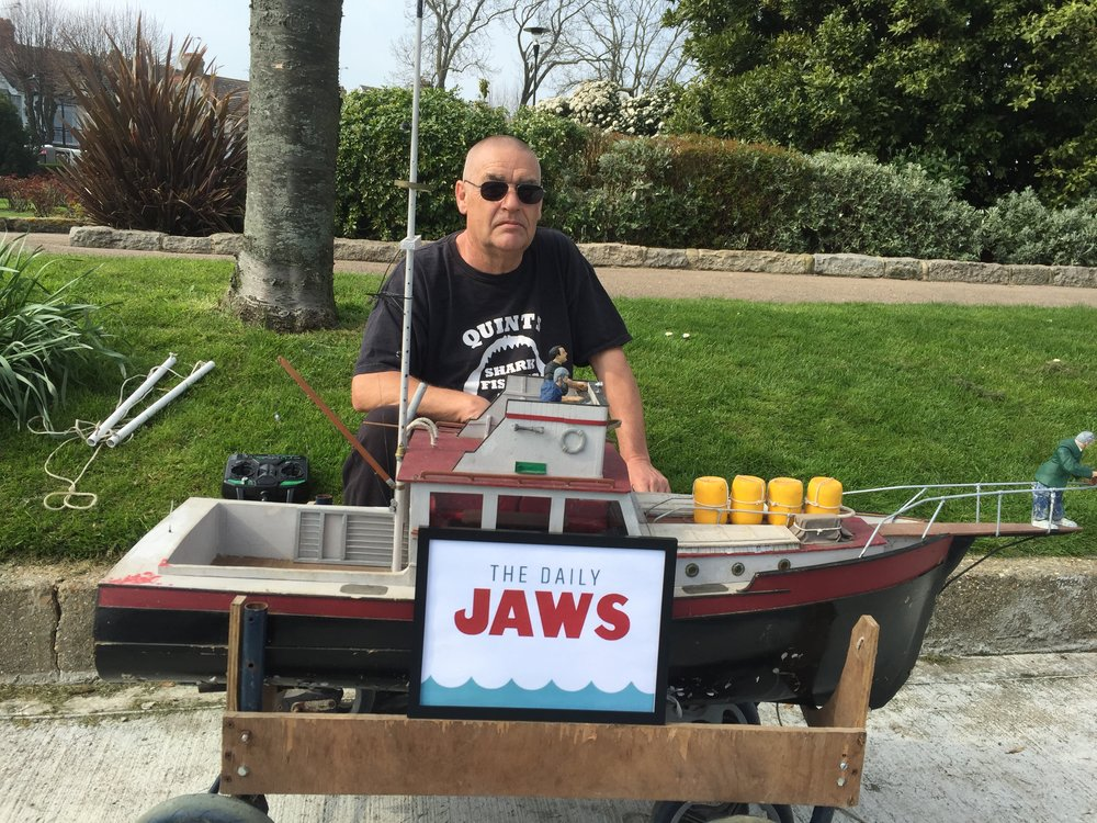 Ron Hawes, creator of the handcrafted replica Orca