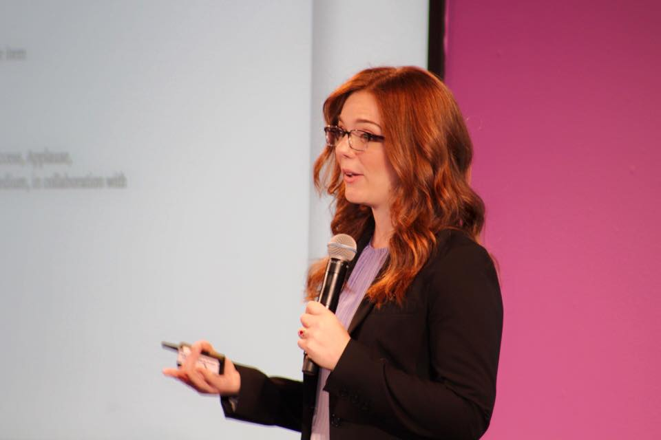 Speaking at the inaugural  Women in Product  conference at Facebook in September 2016. Photo by   Ashita Achuthan