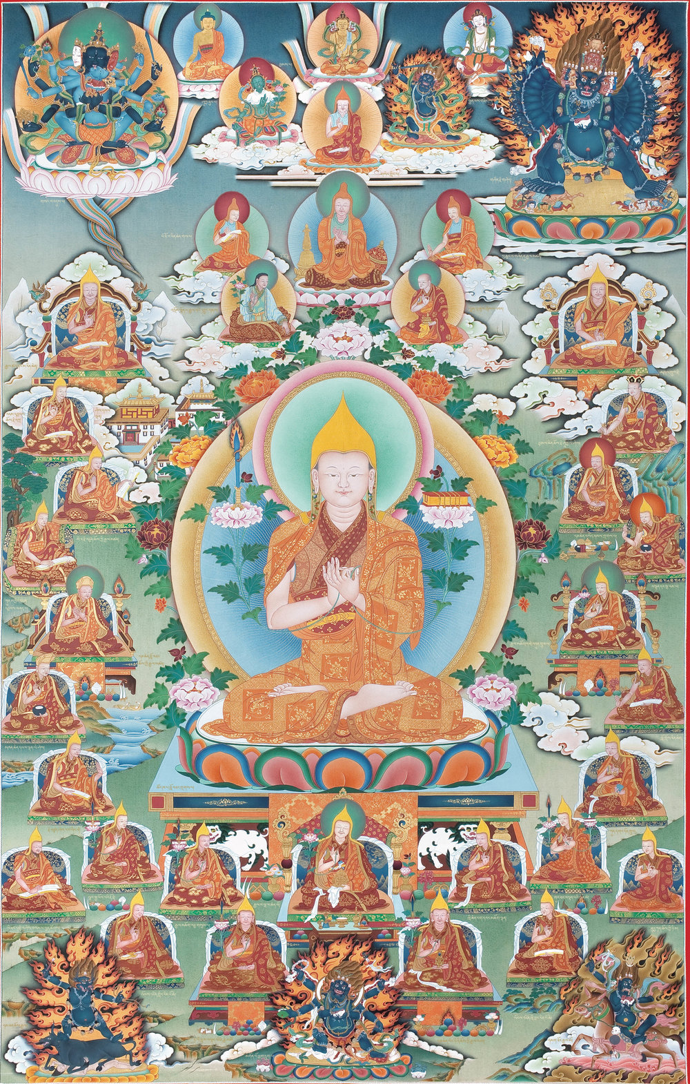 Lineage masters of the Gelug school of Tibetan Buddhism