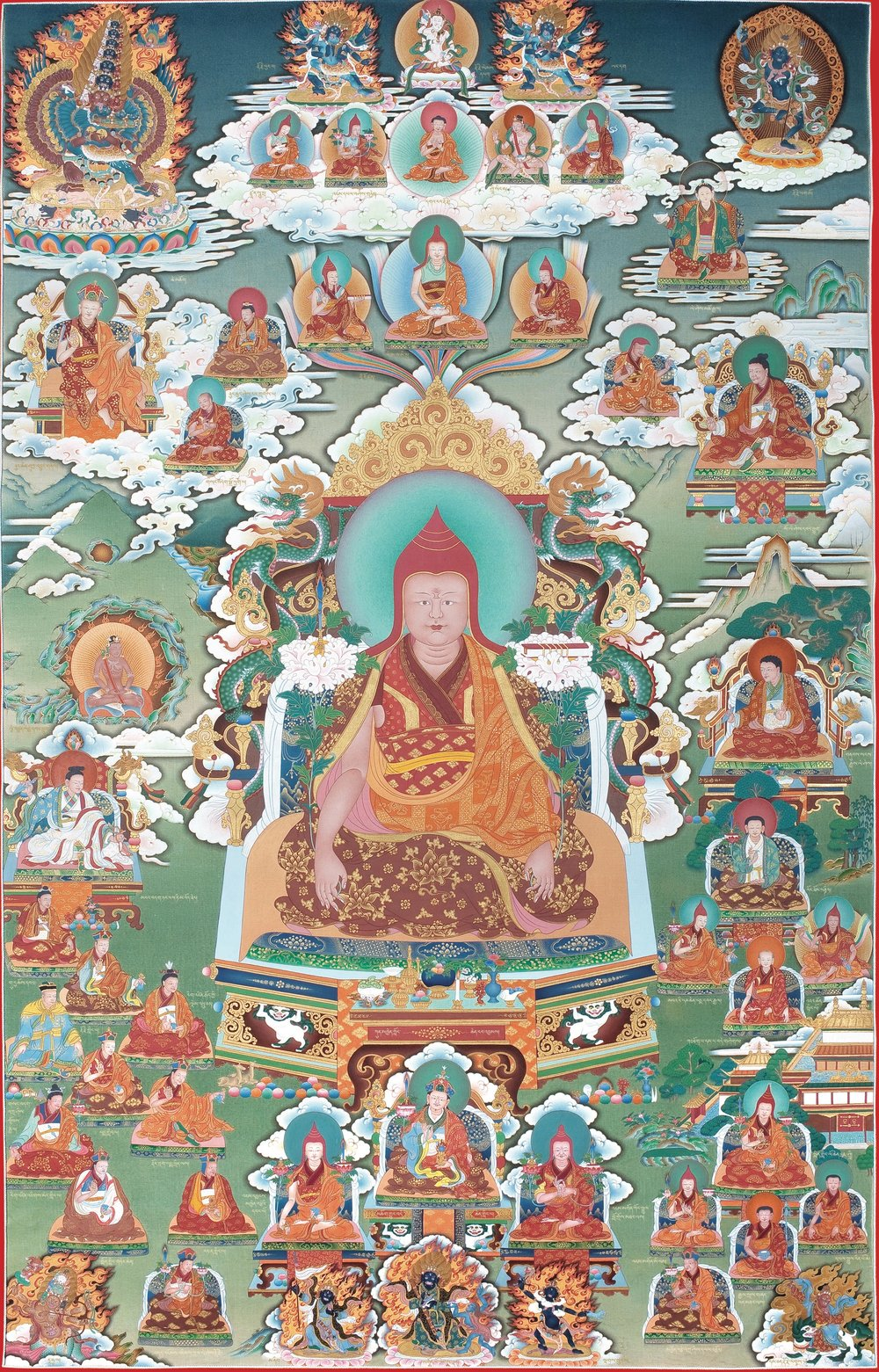 Lineage masters of the Nyingma school of Tibetan Buddhism