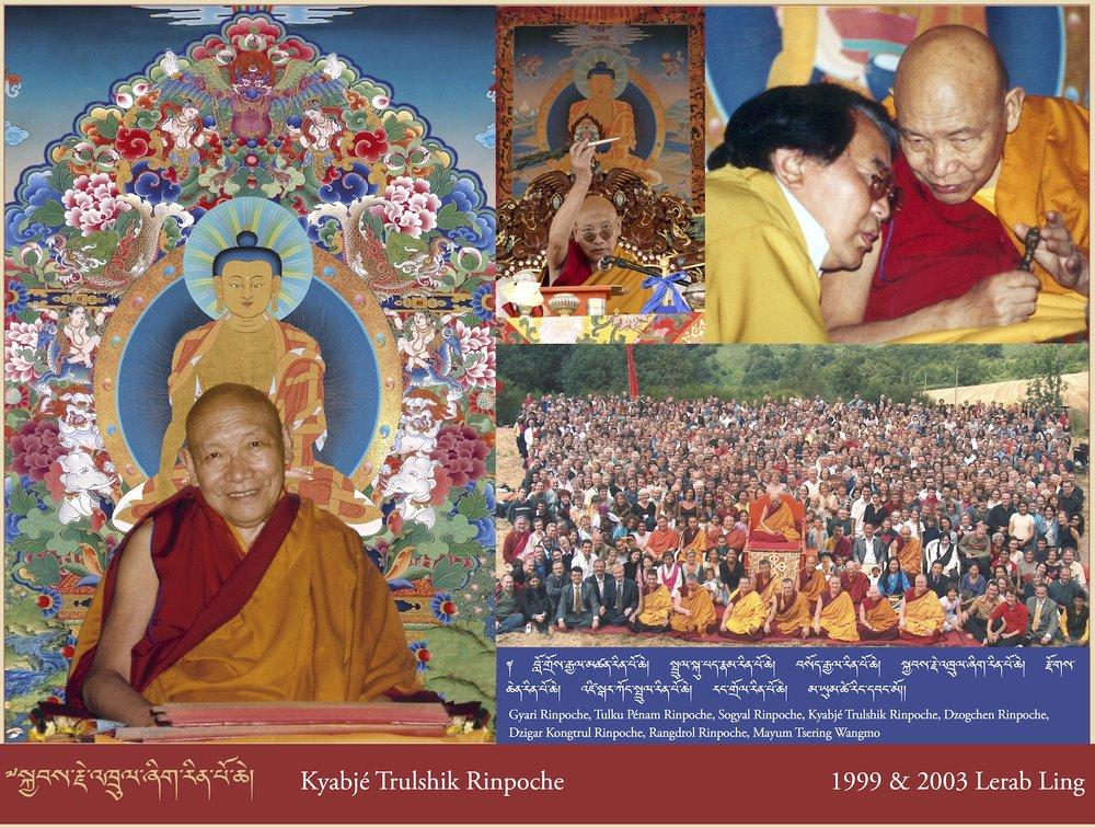 Kyabjé Trulshik Rinpoche, 1999 & 2003 Lerab Ling