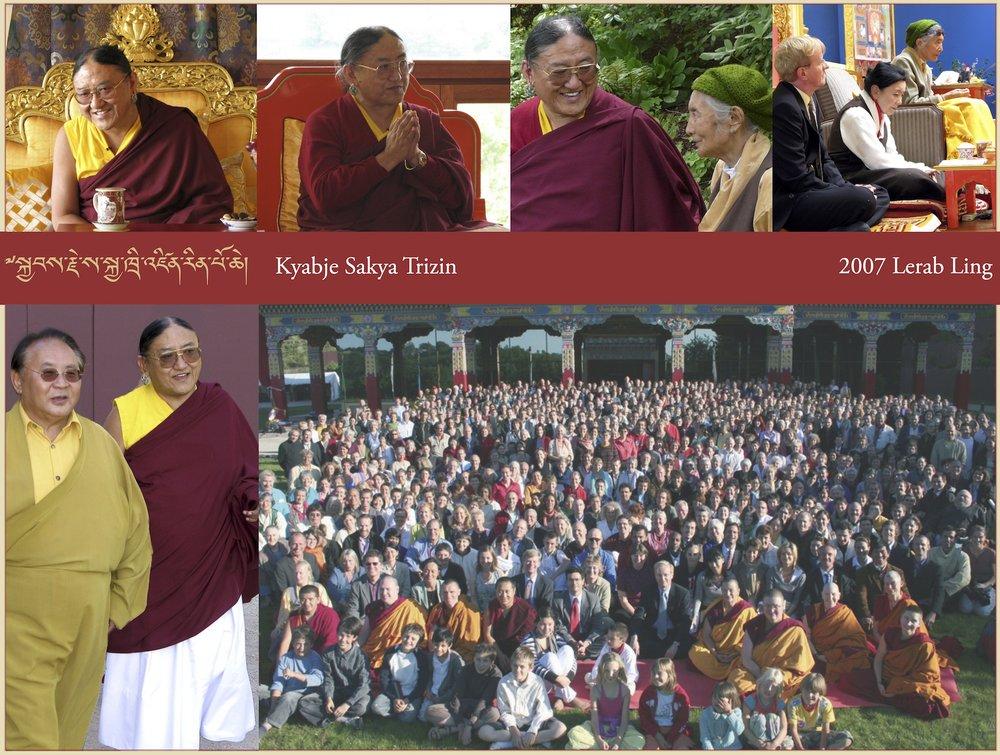 Kyabje Sakya Trizin, 2007 Lerab Ling