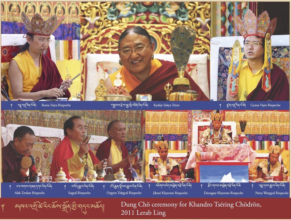 Dung Chö ceremony for Khandro Tséring Chödrön, 2011 Lerab Ling (2)