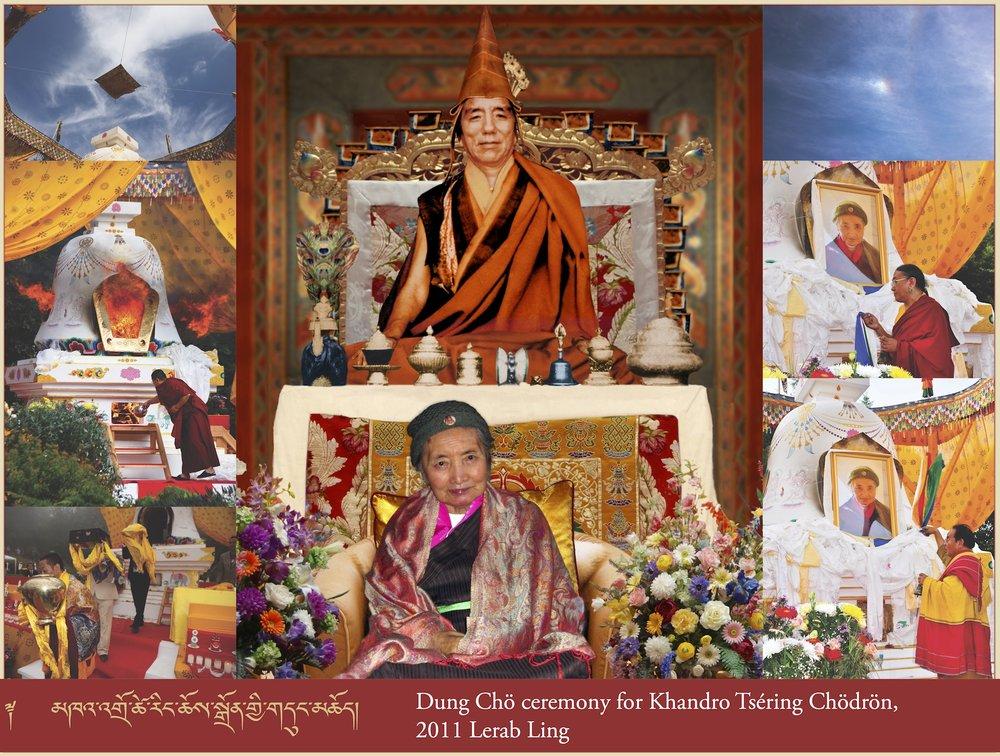 Dung Chö ceremony for Khandro Tséring Chödrön, 2011 Lerab Ling (3)