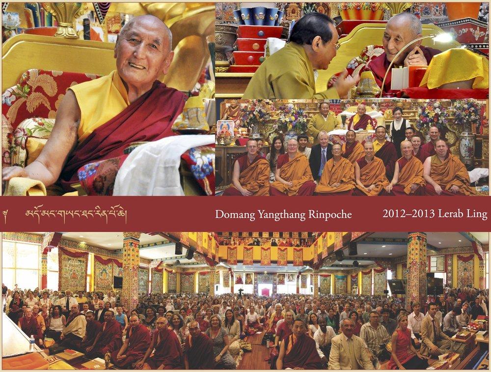Domang Yangthang Rinpoche, 2012–2013 Lerab Ling