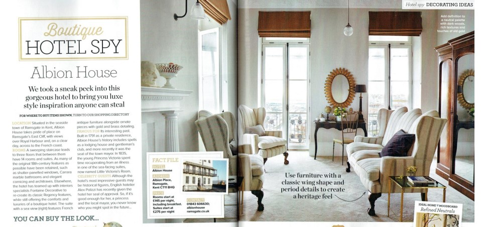 Albion House Ramsgate featured in Ideal Home Magazine