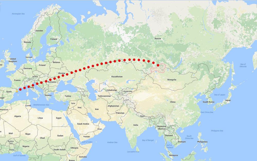 Over 8000 km