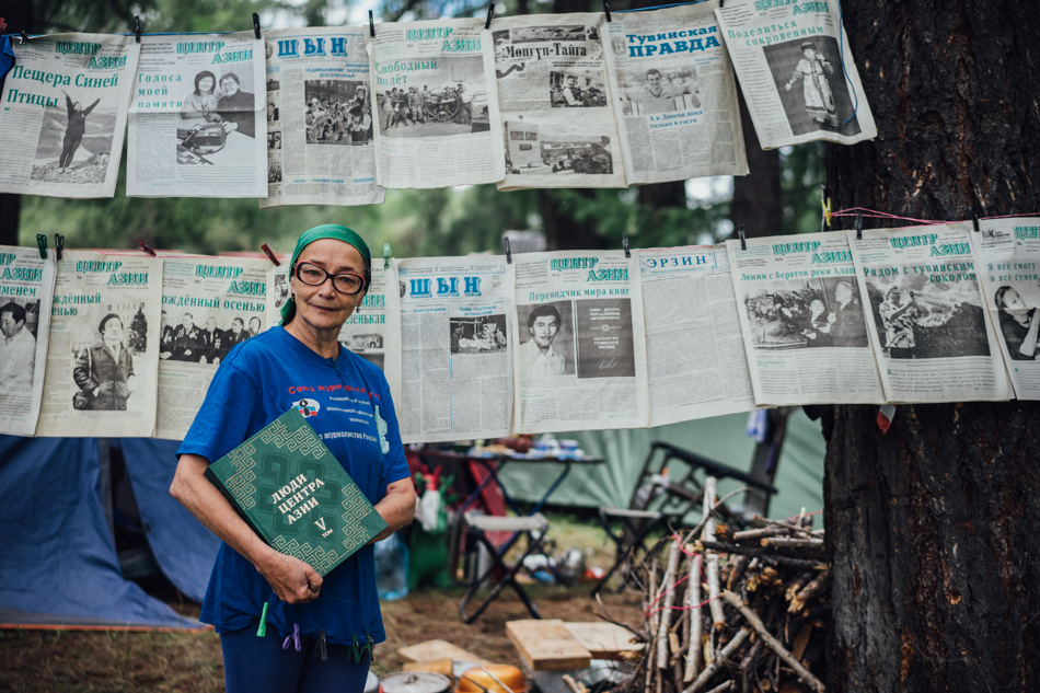 "A journalist, publisher and the main editor of the newspaper "" Center Asia "" Nadezhda Antufjevna Mukharbekovna"