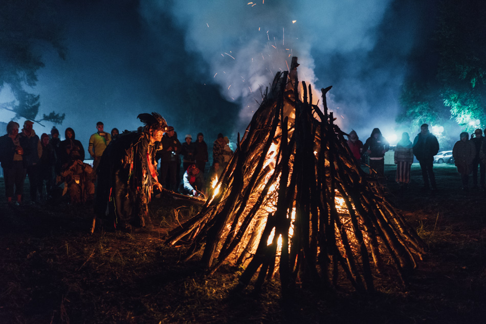 Shamans starting the fire