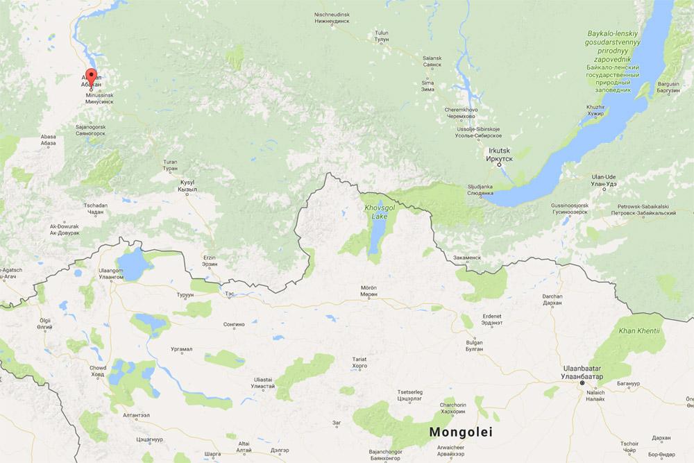 Abakan, Khakassiya, Russia (google maps)