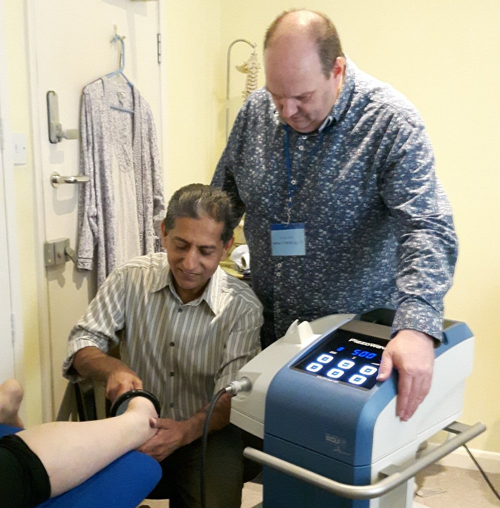 Kevin Jones - Medical Services Director, Impact Medical with Prof Babar Abbas