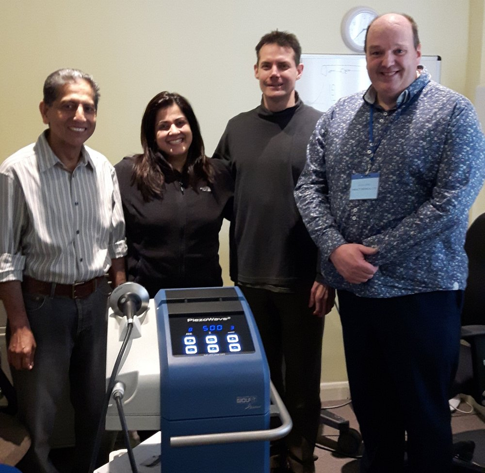From the left - Prof Babar Abbas, Ms Sonia Gogia, Dr James Inklebarker, Mr Kevin Jones