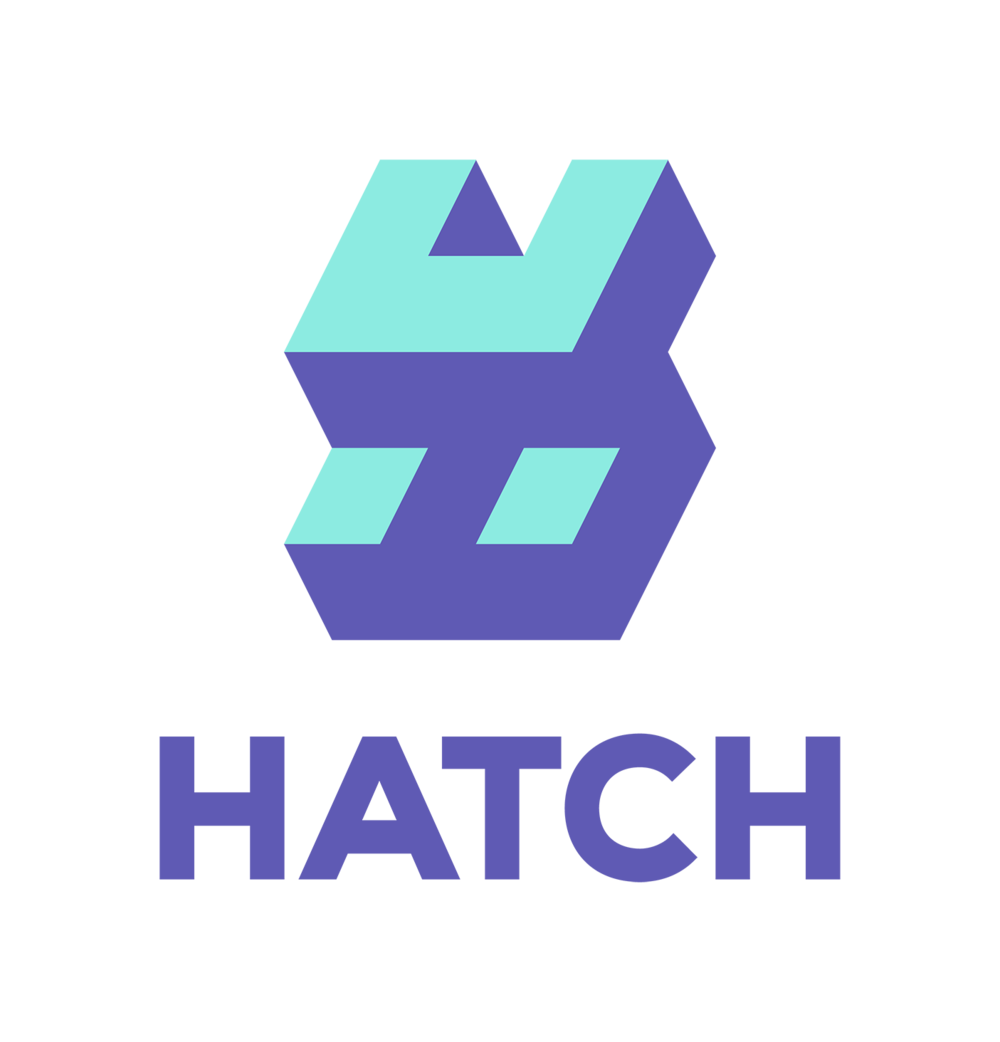 Hatch emblem and wordmark vertical